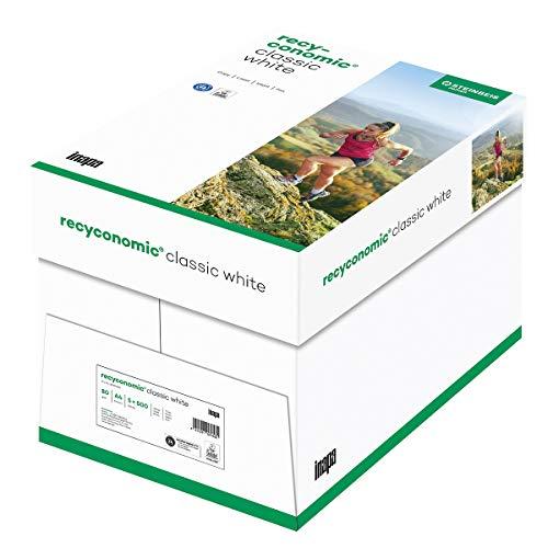 Inapa Recycling-Druckerpapier Recyconomic ClassicWhite, 80g, A4, 5x500 Blatt, CIE-Weiße: 55 (recycling-grau)