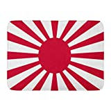 SUPERQIAO Fußmatten Bad Teppiche Outdoor/Indoor Türmatte Rot Japan Japanische Flagge Imperial Army Rising Sun Symbol Tokio Sunrise Badezimmer Dekor Teppich Badematte