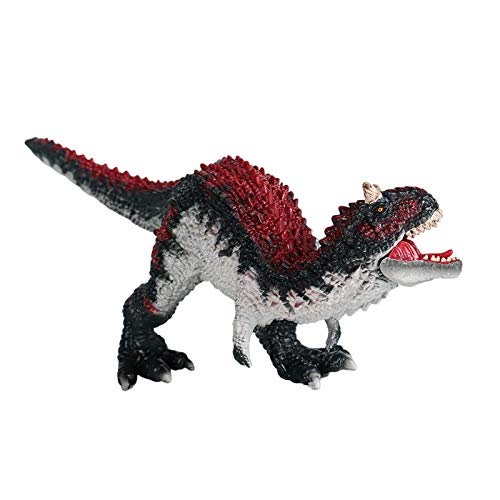 Carnotaurus Dinosaurier Jurassic World, 25cm Carnotaurus Figur Spielzeug Realistische Dinosaurier Figur Prähistorische Dinosaurierfigur offenem Mund Model Spielzeug für Kinder ab 3 Jahren