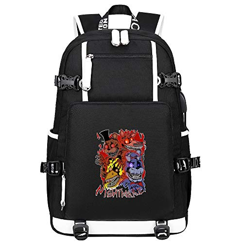 GOYING Five Nights at Freddy's Backpack Casual Rucksack Waterproof Business Travel with USB Unisex-A