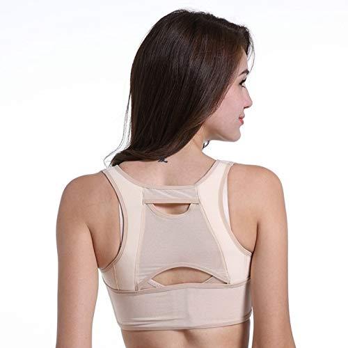 GAO-bo Corrector de Postura, Cinturón de Corrector de Postura de Pecho para Mujer Corsé Moldeador de Cuerpo Cinturón de Hombro Trasero Ajustable, tamaño Correcto: S (Color : Skin Color)