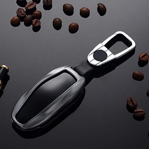 La llave del coche cubierta de la caja 2020 nueva cubierta de la llave del coche adecuado for la clave MODEL3 hebilla caja de cáscara de aluminio de aleación de hombres y mujeres colgante especiales d