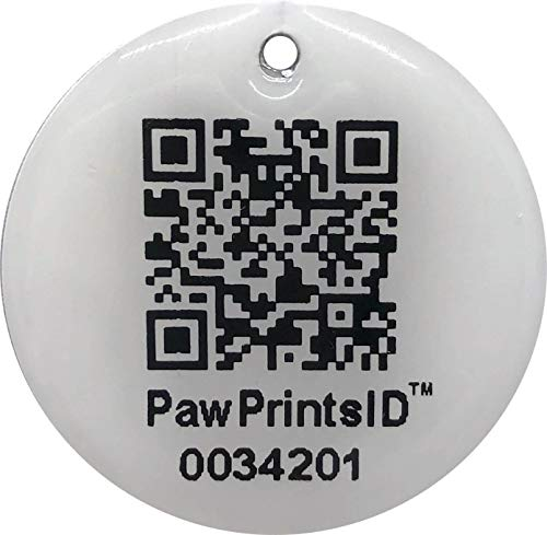 Paw Prints ID QR Smart Pet Tags GPS Pet Collar Rescue and Recovery ID Dog Tag