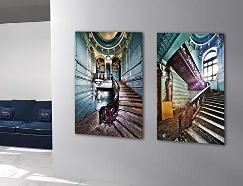 PEÑA VARGAS - Cuadros Impresión Digital - Fotografía Díptico Escaleras sobre Cristal Templado (120x90)