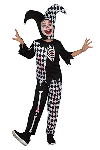 U LOOK UGLY TODAY Boys Halloween Costume Cosplay Clown Joker Child's Dress Up Costumes Party -Large