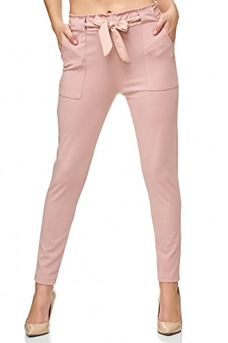 Elara Damen Stretch Hose Slim Fit Chunkyrayan 7722 Pink 36/S