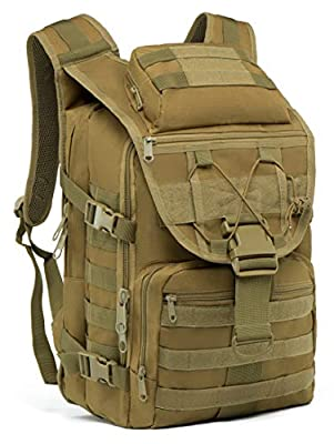 SUPERSUN Tactical Military-Backpack Molle Bag - 35L Tactical Backpack Laptop Bug Out Bag Military Rucksack for Hunting Survival Camping