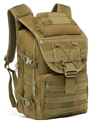 SUPERSUN Militär-Rucksack, 35 l, groß, wasserdicht, Molle-Bug-Out-Tasche, Armee, 3 Tage, khaki