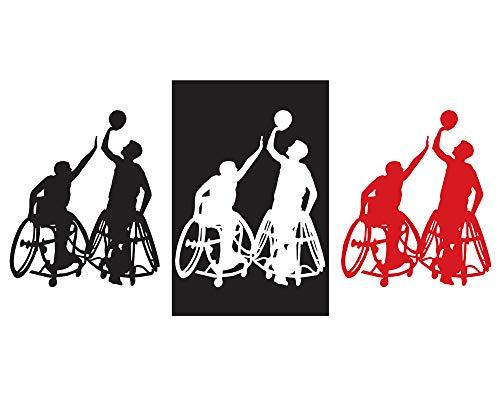 IDS-124 Wandtattoo, Motiv: EricauBird Rollstuhl-Basketball, als Geschenk für Freunde und Kinder