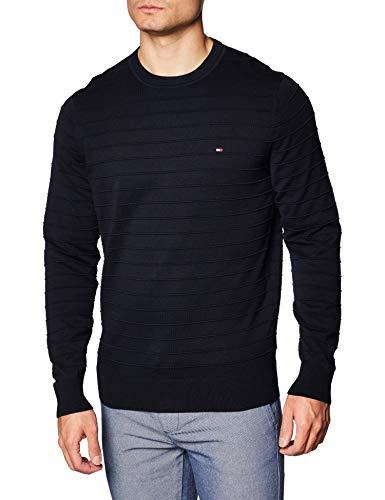 Tommy Hilfiger Raised Stripe Sweater Maglione, Desert Sky, L Uomo