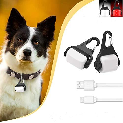 Derlights LED-Hundehalsbandlicht, wiederaufladbar per USB, Licht für Hundehalsband, IP65, wasserfest, Sicherheitslicht für die Dunkelheit
