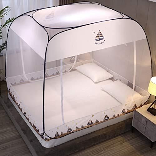 JZH-Light - Mosquitera plegable de 180 x 200 cm, 3 puertas, fácil de instalar con parte inferior antimosquitos para interiores y exteriores, vacaciones, viajes, compacto y ligero