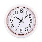 ZYDSN Ligero Modernoartesaladecoraciónnumerale Arábigostamaño Redondorelojpared Moda Lujohogareñaúnico Diseño Moderno Apto para Todos,A