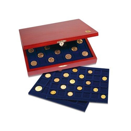 SAFE 5894 Vitrines en bois premium pour 105 pièces de 2 euro | Format: 255 x 210 x 40 mm | Vitrine pour pour votre collection