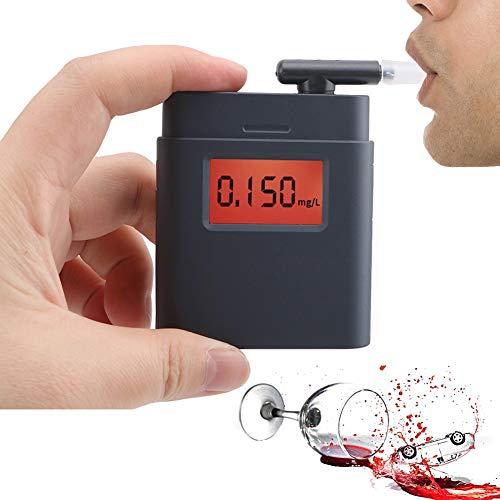 Fall Alcoholimetro Digital, Aliento portátil Llavero probador del Alcohol, Mini Breathalyzers Digital con Pantalla LCD, for los Bebedores Conductor