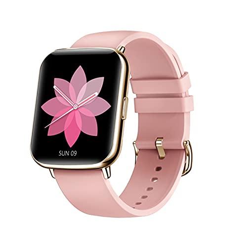 2021 Smart Watch Ladies Fitness Tracker 1.7 Pulgadas Pantalla DIY Dial IP68 Pulsera Deportiva Impermeable Smart Watch Men para Android iOS,B