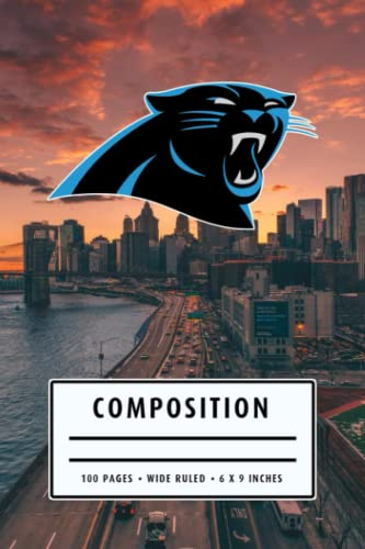 Weekly Planner Composition: Carolina Panthers Notebook - To My Football Son , To My Football Dad - Thankgiving Gift Ideas Type #17
