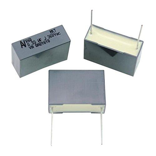 10x MKT-Kondensator radial 0,33µF 360V AC ; RM22,5 ; R60ZN3330ZA00J ; 330nF