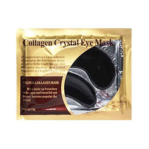 1 par / 2 uds, Almohadillas de gel para ojos, máscara de colágeno dorado de 24 K, almohadillas para debajo de los ojos para hidratar y eliminar ojeras, parches para ojos, almohadillas para el