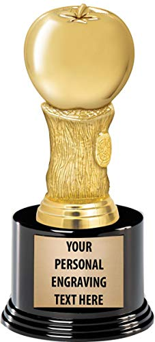 Crown Awards Apple Trophies with Custom Engraving