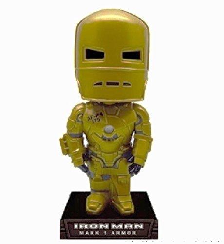 Wacky Wobbler Marvel Iron Man Mark 1 Color Oro Cabezon PVC APPR 16cm de Funko