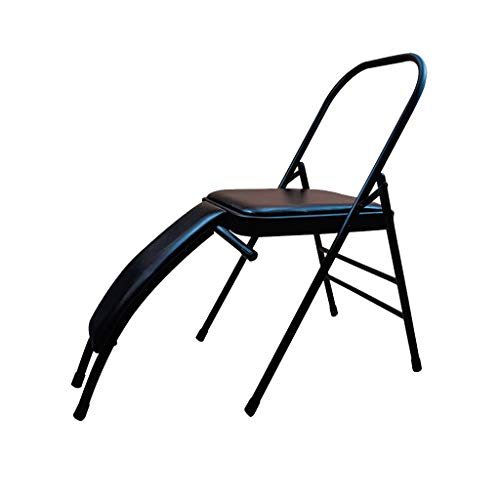 Review Yoga Auxiliary Chair, Folding Yoga Inverted Stool, Detachable Lumbar Support, Ideal for Begin...