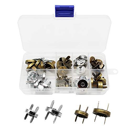 Mila-Amaz 20 Conjuntos Botónes Magneticos Cierre Magnetico Bolso para Bolsos, Costura, Artesanía, Ropa, DIY Arte de Costura