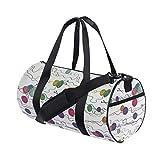 HARXISE Bolsa de Viaje,Bolas de Tejer Crochet Artesanías de Mano Puntada Hilo Hobby Tema Ilustración artística,Bolsa de Deporte con Compartimento para Sports Gym Bag