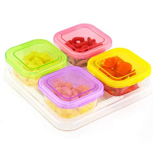 N-B Fashion Color Multi-Fach Food Box Haushalt Babynahrung Supplement Aufbewahrungsbox Dessert Obst Aufbewahrung Gefrierbox