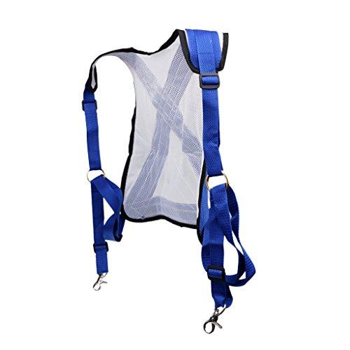 MagiDeal Harnias D'épaule Large en PVC Sangle Bretelle Réglable Protection du Corps pour Pêche