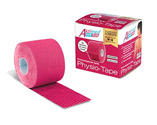 Aktimed Tape Plus 2 in 1 - Sport Kinesiologie Tape mit integrierten pflanzlichen Extrakten | Patentiertes 2 in 1 Physio Tape, Designed in Deutschland [Rosa]