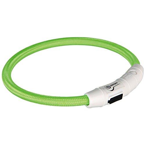 Trixie Flash Leuchtring USB XS - S (35 cm / ø 7 mm) grün