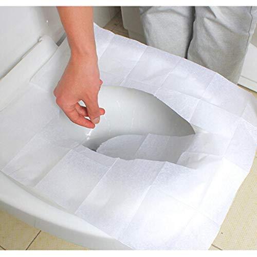 Toilet Mat 10 Pièces/Set Tapis de WC Couverture de siège de Toilette à Usage Unique Voyage 100% Pad Papier Toilette imperméable Salle de Bain Accessoires