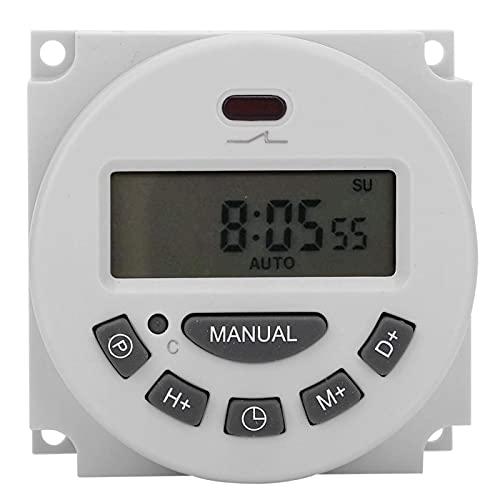CN101A L701‑12V Interruptor de control de tiempo programable digital Temporizador electrónico de microcomputadora congeneroso LCD