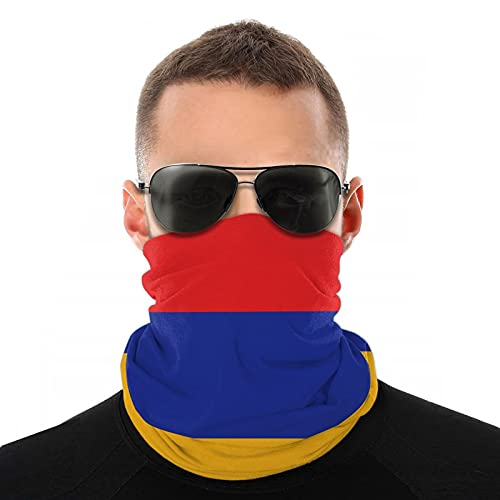 Xiaoxian Máscara facial transpirable con bandera siria para el cuello, protector de pierna para la cara, bufanda turbante para pasamontañas sombrero bufanda para hombres y mujeres