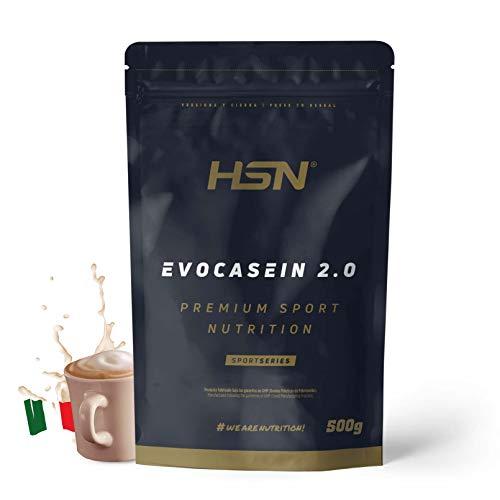 Caseína Micelar de HSN Evocasein 2.0 | Proteína para Antes de Dormir | Liberación Lenta de Aminoácidos durante la Noche | No-GMO, Vegetariana, Sin Gluten | Capuchino | 500 gr