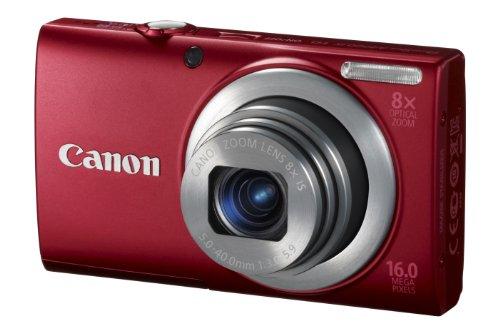 Canon PowerShot A4000 IS Digitalkamera (16 MP, 8-fach opt. Zoom, 7,6cm (3 Zoll) Bildschirm, bildstabilisiert) rot