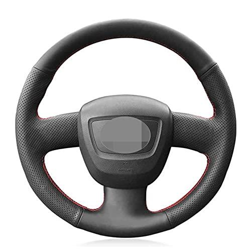 ZIMAwd Cubierta de Cuero para Volante de Coche DIY, Apta para Audi Seat Exeo 2009-2012 A4 (B8) 2005-2012 A5 2008-2012 A3 (8P) 2006-2013
