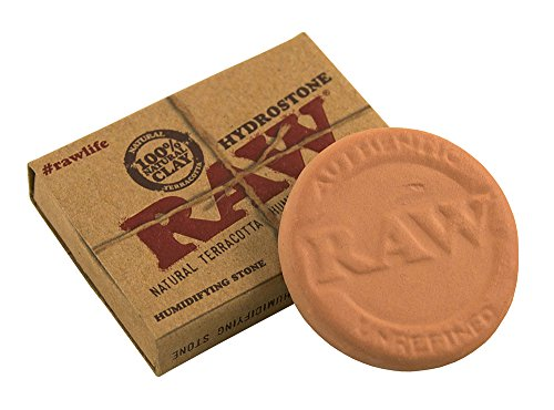 RAW Hydrostone Tobacco Natural Terracotta Humidifying Stone 3.6 cm Diameter Pack of 3, Brown, Small