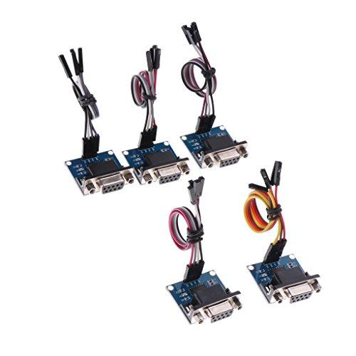 Baoblaze 5 Stücke RS232 to TTL Converter Modul Errichtet In MAX3232 Transfer Chip mit Kabel