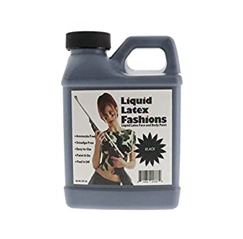 8 oz Black - Face and Body Paint – Ammonia Free Liquid Latex Ideal for Art Theater Halloween Parties and Cosplay for Adults and Kids