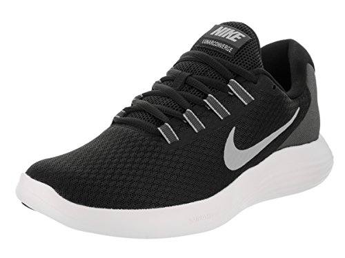 NIKE Men's LunarConverge Running Shoe, Black/Matte Silver/Anthracite/White, 15 D(M) US