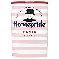 (Homepride) 小麦粉の1キロ (x4) - Homepride Plain Flour 1kg (Pack of 4) [並行輸入品]