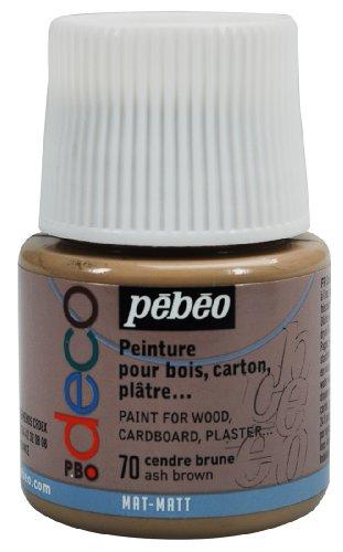 Pébéo 204070 Déco Acrylique Mat 1 Flacon Cendre Brune 45 ML