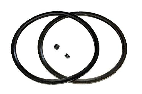 2-Pack of Presto Pressure Cooker Sealing Ring / Gasket & Overpressure Plug (2 Sets per Pack) - Fits Various 6-Quart Presto Models - Corresponds to 09936 - By IMPRESA