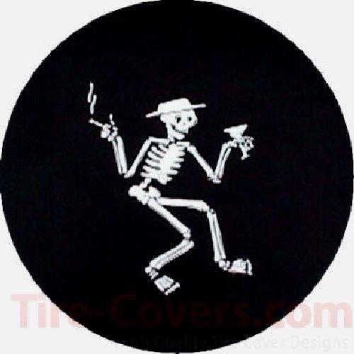 "CustomGrafixTireCovers Mr. Bones Tire Cover 35"""