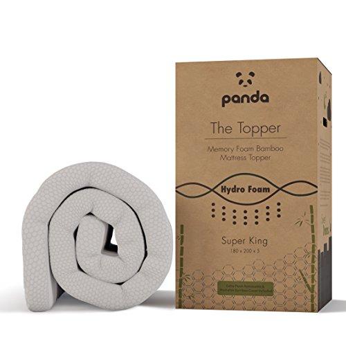 The Topper por Panda (Super King) - Cubre Colchón de bambú de Espuma de Memoria Infundida con Gel (Hidro-Espuma)