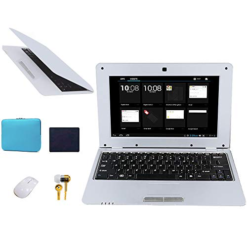 FANCY CHERRY 10 Pulgadas 8GB Laptop Netbook Notebook PC Ultrabook Android 4.4 HDMI WiFi Cámara (Laptop Bag + Mouse + Mouse...