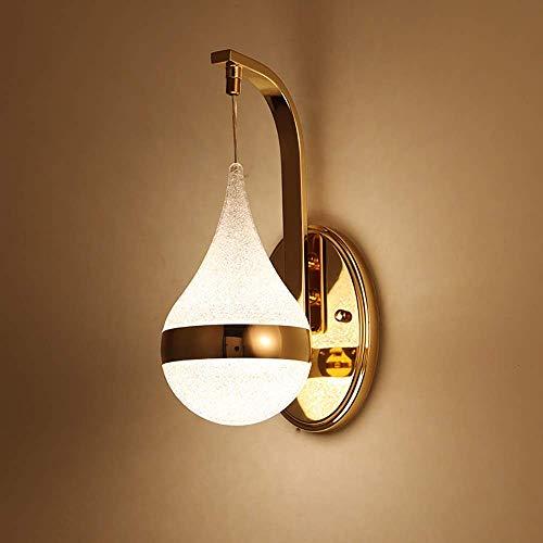GUOSHUCHE Lámpara de pared mesita creativa gota lámpara de pared dormitorio simple personalidad moderna sala de estar pasillo lámpara de pared de alto gusto