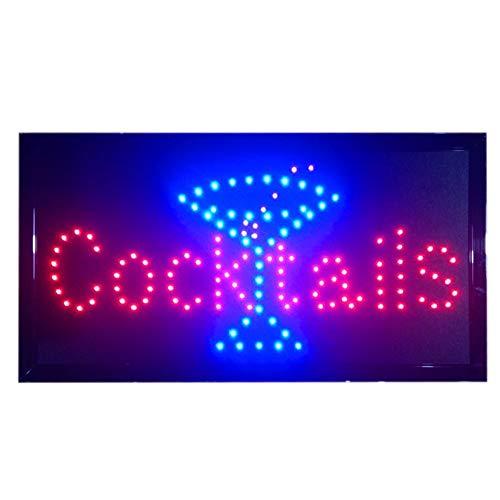 XUE Cocktails LED-Bar Club Bier Dual Color LED Neon Sign 19 X 10-Zoll-Zeichen